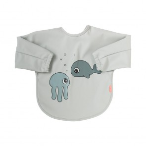 Done by Deer - Slinček z rokavi 6-18m, Sea friends Grey