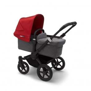 Bugaboo Donkey 3 Mono BLACK/GREY MELANGE-RED