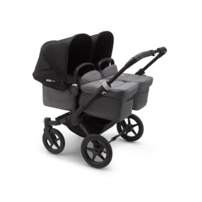Bugaboo Donkey 3 Twin BLACK/GREY MELANGE-BLACK