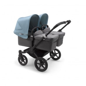Bugaboo Donkey 3 Twin BLACK/GREY MELANGE-VAPOR BLUE