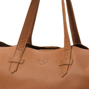 Elodie - Usnjena previjalna torba, Chestnut leather